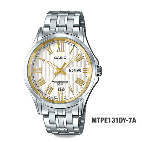 Casio Men's Standard Analog Silver Stainless Steel Band Watch MTPE131DY-7A MTP-E131DY-7A