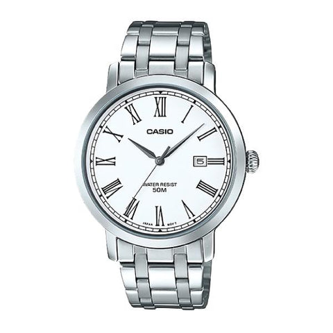Casio Men's Standard Analog Silver Stainless Steel Band Watch MTPE149D-7B MTP-E149D-7B