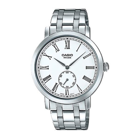 Casio Men's Standard Analog Silver Stainless Steel Band Watch MTPE150D-7B MTP-E150D-7B