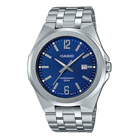 Casio Men's Analog Silver Stainless Steel Band Watch MTPE158D-2A MTP-E158D-2A