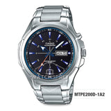 Casio Men's Standard Analog Silver Stainless Steel Band Watch MTPE200D-1A2 MTP-E200D-1A2