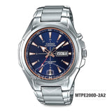 Casio Men's Standard Analog Silver Stainless Steel Band Watch MTPE200D-2A2 MTP-E200D-2A2