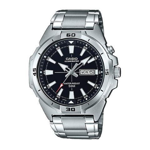 Casio Men's Standard Analog Silver Stainless Steel Band Watch MTPE203D-1A MTP-E203D-1A