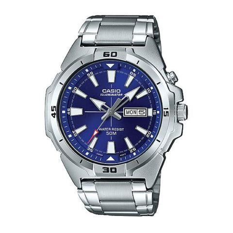 Casio Men's Standard Analog Silver Stainless Steel Band Watch MTPE203D-2A MTP-E203D-2A