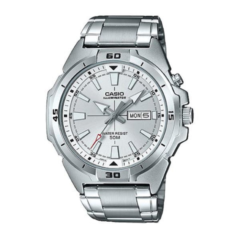 Casio Men's Standard Analog Silver Stainless Steel Band Watch MTPE203D-7A MTP-E203D-7A