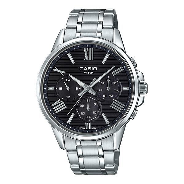 Casio Men's Multi-Hand Silver Stainless Steel Band Watch MTPEX300D-1A MTP-EX300D-1A