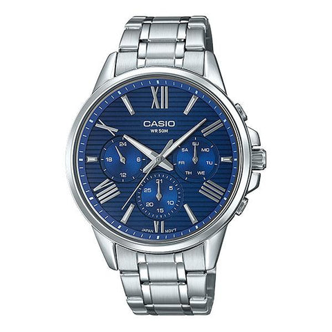 Casio Men's Multi-Hand Silver Stainless Steel Band Watch MTPEX300D-2A MTP-EX300D-2A