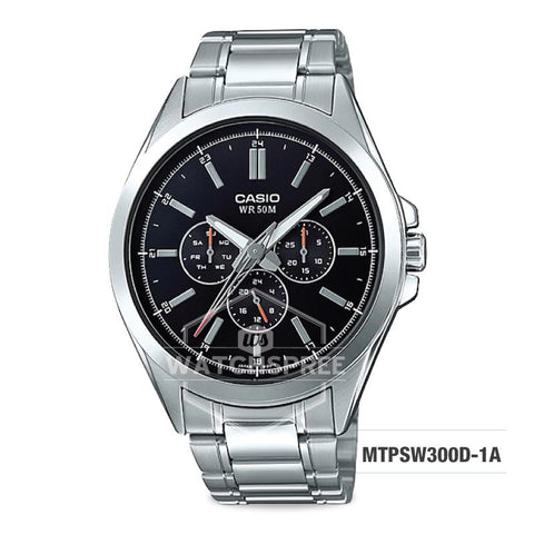 Casio Men's Multi-Hands Series Silver Stainless Steel Band Watch MTPSW300D-1A MTP-SW300D-1A