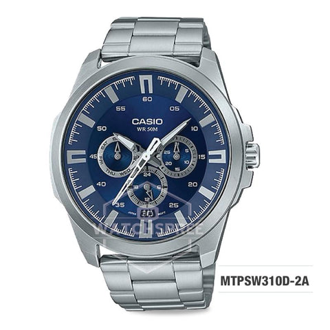 Casio Men's Standard Analog Silver Stainless Steel Band Watch MTPSW310D-2A MTP-SW310D-2A