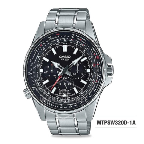 Casio Men's Standard Analog Silver Stainless Steel Band Watch MTPSW320D-1A MTP-SW320D-1A
