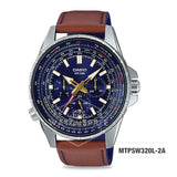 Casio Men's Standard Analog Brown Leather Strap Watch MTPSW320L-2A MTP-SW320L-2A