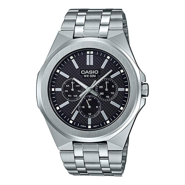 Casio Men's Multi-Hand Silver Stainless Steel Band Watch MTPSW330D-1A MTP-SW330D-1A
