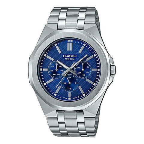 Casio Men's Multi-Hand Silver Stainless Steel Band Watch MTPSW330D-2A MTP-SW330D-2A