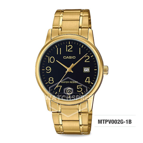 Casio Men's Standard Analog Gold Tone Stainless Steel Band Watch MTPV002G-1B MTP-V002G-1B