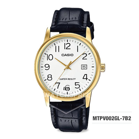 Casio Men's Standard Analog Black Leather Band Watch MTPV002GL-7B2 MTP-V002GL-7B2