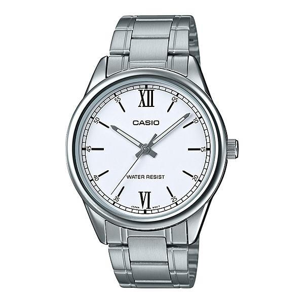 Casio Men's Analog Silver Stainless Steel Band Watch MTPV005D-7B2 MTP-V005D-7B2