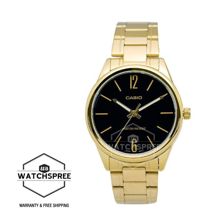 212f852a1a1 Casio Men s Standard Analog Gold Tone Stainless Steel Band Watch  MTPV005G-1B MTP-V005G-1B