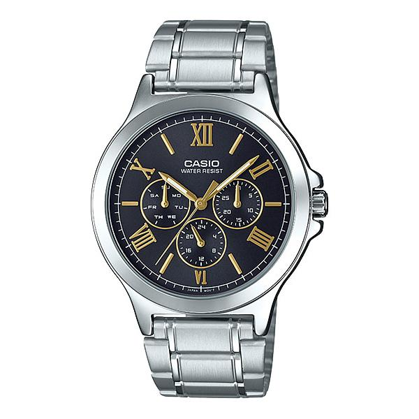 Casio Men's Multi-Hands Silver Stainless Steel Band Watch MTPV300D-1A2 MTP-V300D-1A2