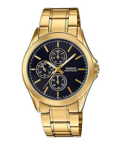 Casio Men's Standard Analog Gold Tone Stainless Steel Band Watch MTPV302G-1A MTP-V302G-1A