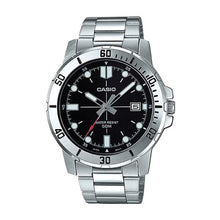 Load image into Gallery viewer, Casio Men's Diver Look Silver Stainless Steel Band Watch MTPVD01D-1E MTP-VD01D-1E