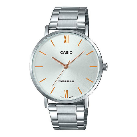 Casio Men's Analog Silver Stainless Steel Band Watch MTPVT01D-7B MTP-VT01D-7B