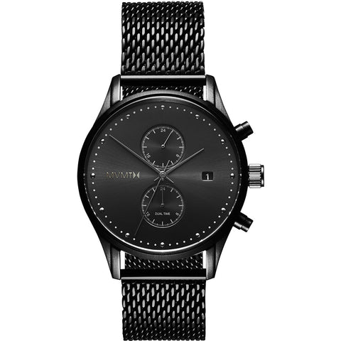 MVMT Voyager Quartz Black Dial 42 mm Men's Watch MV01-BL2