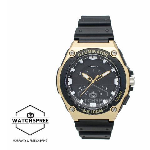 Casio Men's Standard Analog Black Resin Band Watch MWC100H-9A MWC-100H-9A