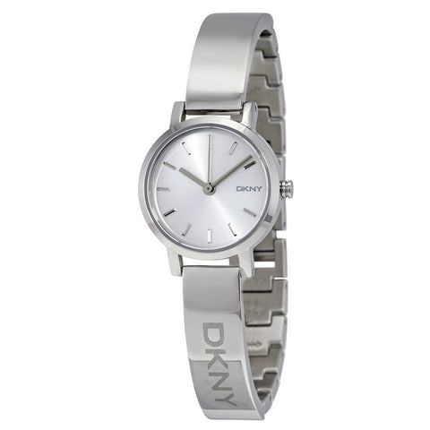 DKNY Silver Sunray Dial Bangle 24 mm Ladies Watch NY2306