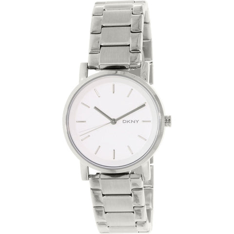 DKNY Soho White Dial Stainless Steel 34 mm Ladies Watch NY2342
