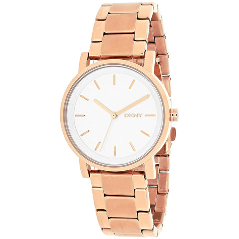 DKNY Soho White Dial Rose Gold-tone 34 mm Ladies Watch NY2344