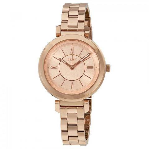 DKNY Ellington Ladies 34 mm Rose Gold-tone Watch NY2584