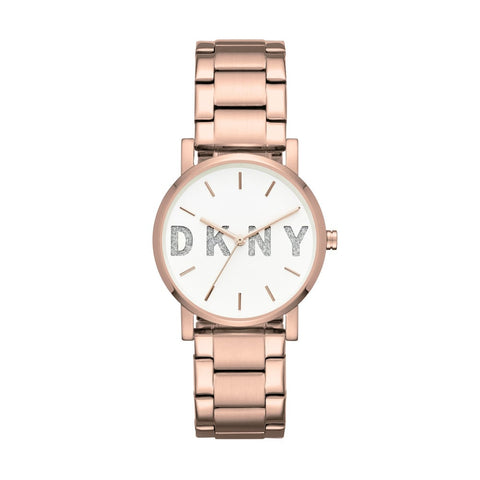 DKNY Soho Quartz White Dial 34 mm Ladies Watch NY2654