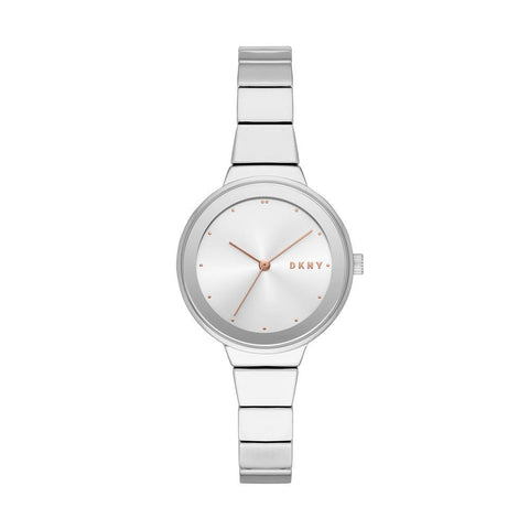 DKNY Astoria Quartz Silver Dial Stainless Steel 32 mm Ladies Watch NY2694