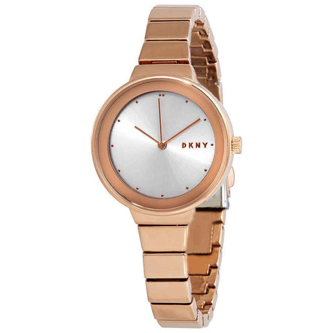 DKNY Astoria Quartz Silver Dial Rose Gold-tone 32 mm Ladies Watch NY2695