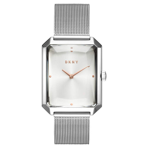 DKNY Cityspire Quartz Silver Rectangle Dial 27 mm x 34 mm Ladies Watch NY2708