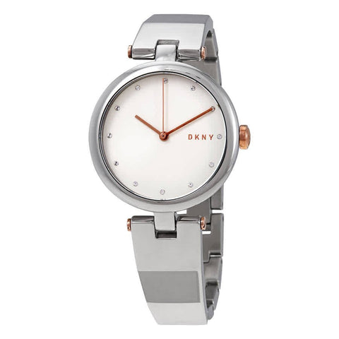 DKNY Eastside Quartz Silver Dial Stainless Steel 34 mm Ladies Watch NY2745
