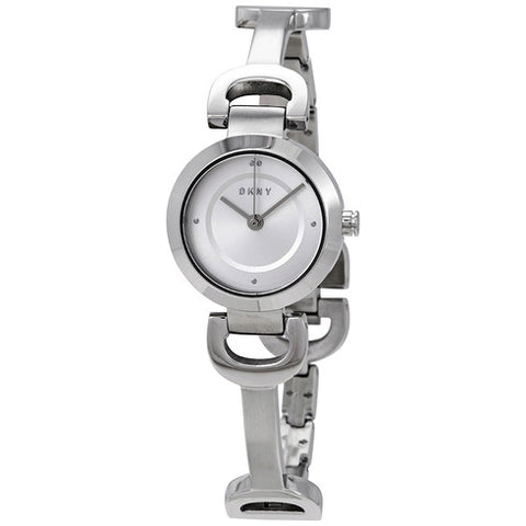 DKNY City Silver Dial 24 mm Ladies Bangle Watch NY2748