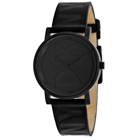 DKNY Soho Quartz Black Dial Black Leather 34 mm Ladies Watch NY2783