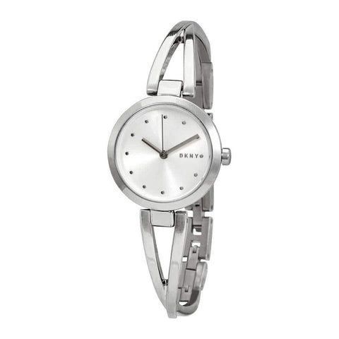 DKNY Crosswalk Quartz Silver Dial Stainless Steel 26 mm Ladies Watch NY2789