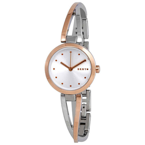 DKNY Crosswalk Quartz Silver Dial Two-tone 26 mm Ladies Watch NY2791