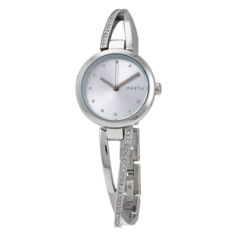 DKNY Crosswalk Quartz Silver Dial 26 mm Ladies Watch NY2792