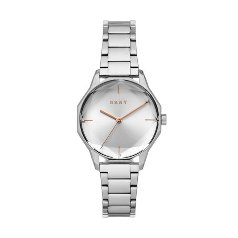 DKNY Cityspire Quartz Silver Dial Stainless Steel 34 mm Ladies Watch NY2793
