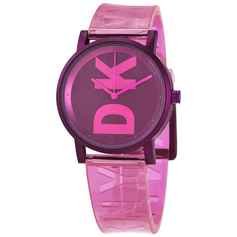 DKNY Soho Quartz Pink Dial 34 mm Ladies Watch NY2809