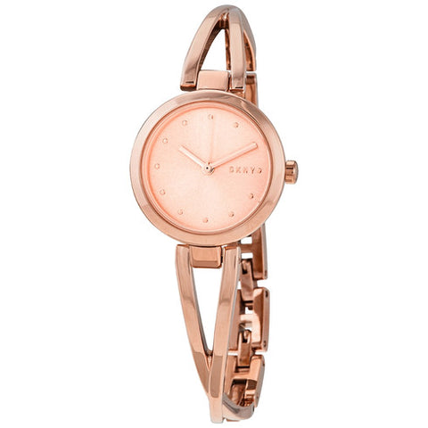 DKNY Crosswalk Quartz Rose Gold Dial 26 mm Ladies Watch NY2812