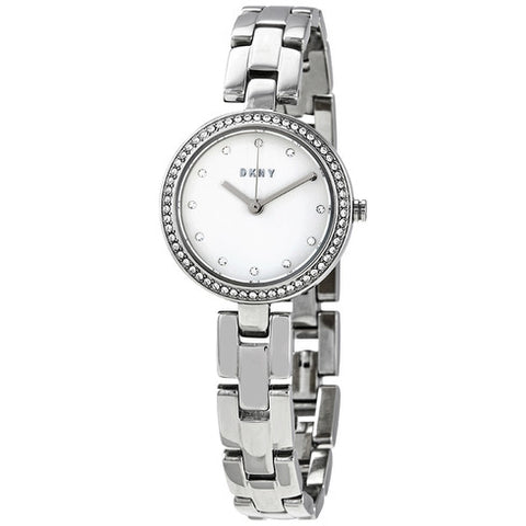 DKNY City Link Quartz Crystal Silver Dial 26 mm Ladies Watch NY2824