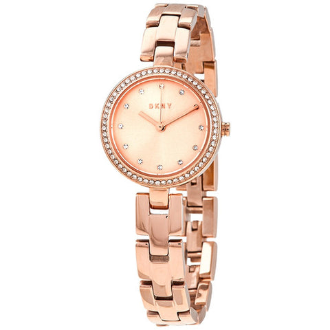 DKNY City Link Quartz Crystal Rose Gold Dial 26 mm Ladies Watch NY2826