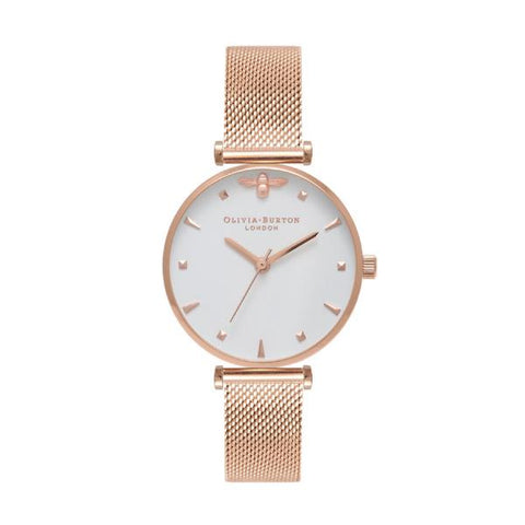 Olivia Burton Ladies' Rose Gold Stainless Steel Bracelet Watch OB16AM105