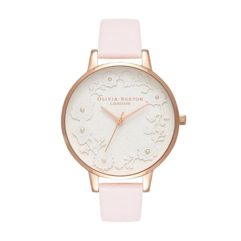 Olivia Burton Ladies' Artisan Dial Blossom & Rose Gold Watch OB16AR01