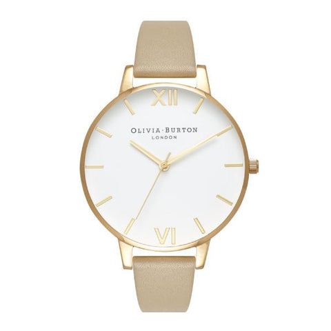Olivia Burton Ladies' Sand Leather Strap Watch OB16BDW35