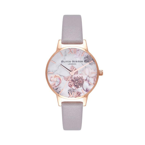 Olivia Burton Ladies' Marble Floral Rose Gold Watch OB16CS14